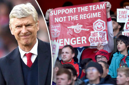 Twitter reacts to 'Wenger out' Arsenal fan protest fail