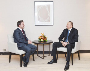 President Aliyev meets with Prime Minister, Minister of State of Luxembourg