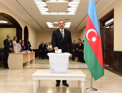 Azerbaijan's president votes in constitutional referendum