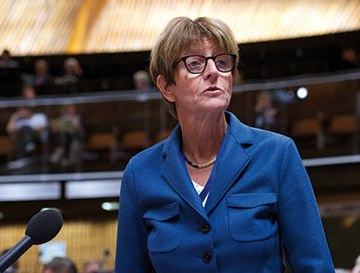 Anne Brasseur: I could not use the term 'genocide' since it is not CoE's official position