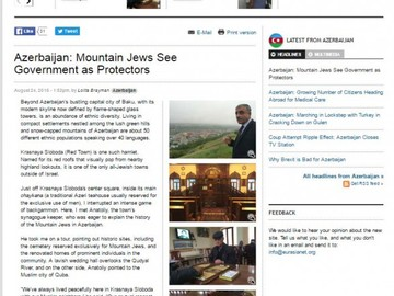 Eurasianet: Mountain Jews see government as protectors in Azerbaijan