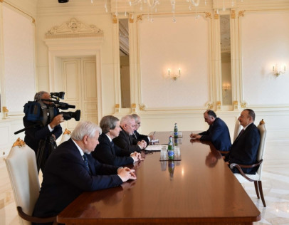 Ilham Aliyev received OSCE Minsk Group co-chairs