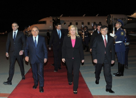 Croatian president arrives in Azerbaijan