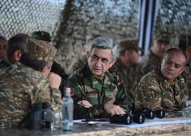 Sargsyan visits occupied Azeri territory - PHOTO