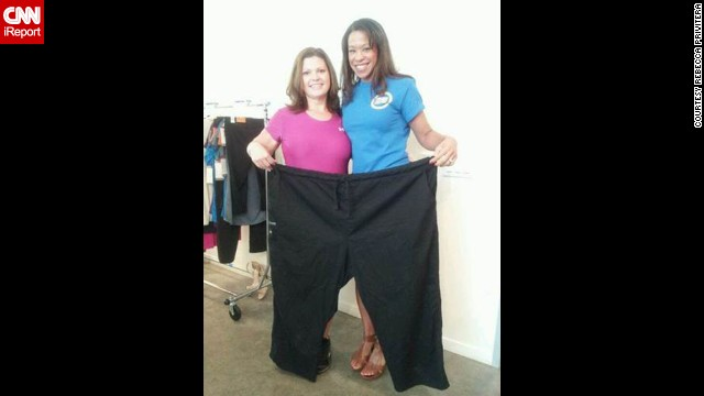 Home workout videos help iReporter lose 200 pounds - PHOTO