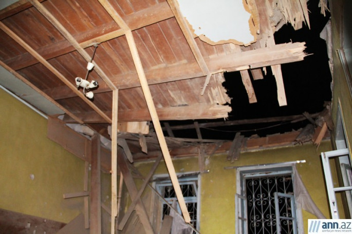 House in Terter destroyed by Armenian shell Photos