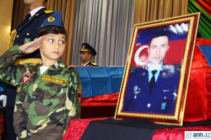 A farewell ceremony and funeral was held for Azerbaijani martyrs who died defending their country PHOTOS