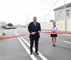 Ilham Aliyev attended the opening of newly reconstructed  highway