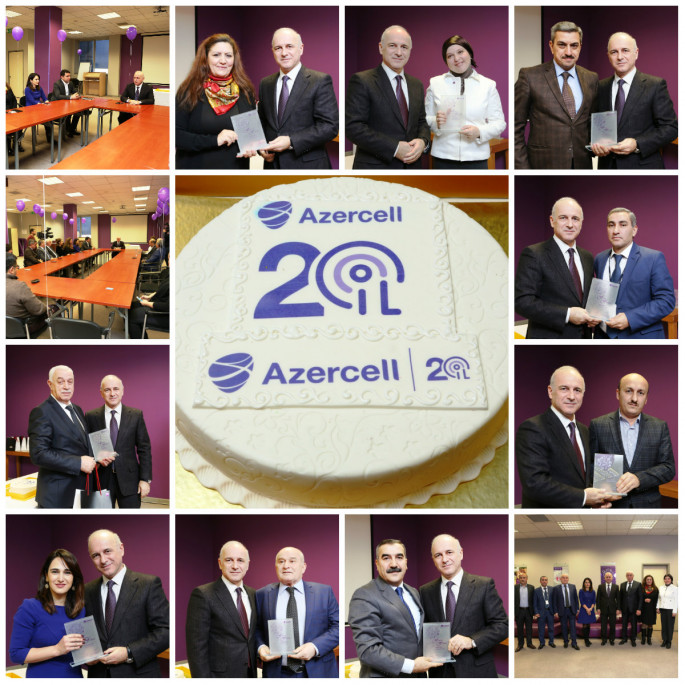 Azercell rewards its 20 years working employees