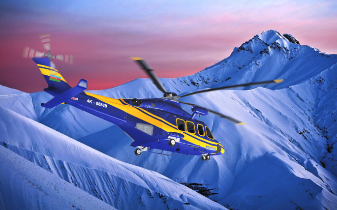 Silk Way Helicopter Services offers travelling by helicopter