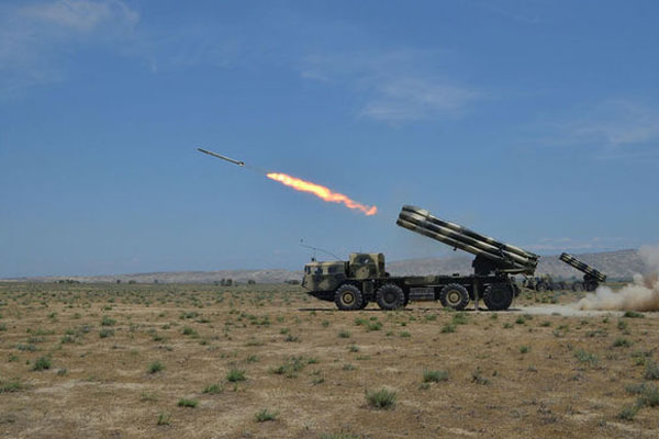 Azerbaijani rocket and artillery formations conduct live-fire exercises (VIDEO)