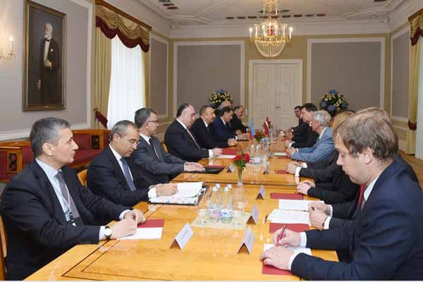 Presidents of Azerbaijan and Latvia met in expanded format