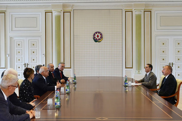 President Ilham Aliyev receives former heads of state and government attending Global Young Leaders Forum