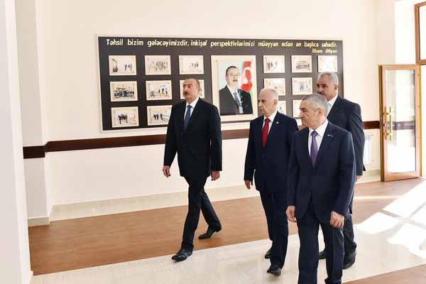 President Ilham Aliyev views school No 74 in Baku after major overhaul - UPDATED