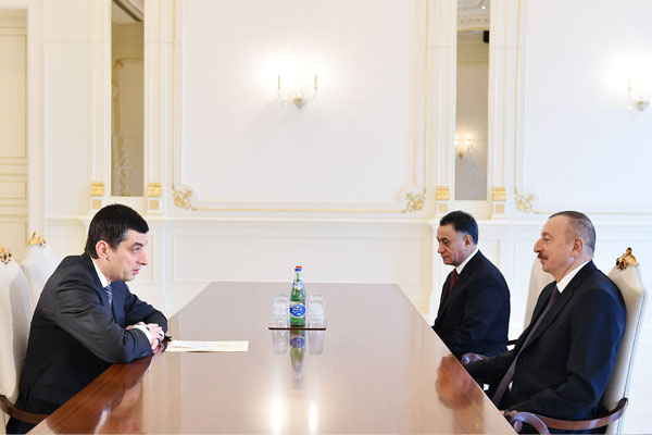 Ilham Aliyev received Georgian Vice Prime Minister