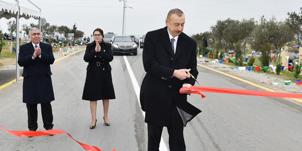 President inaugurates Mehdiabad-Digah-Mammadli highway (PHOTO)