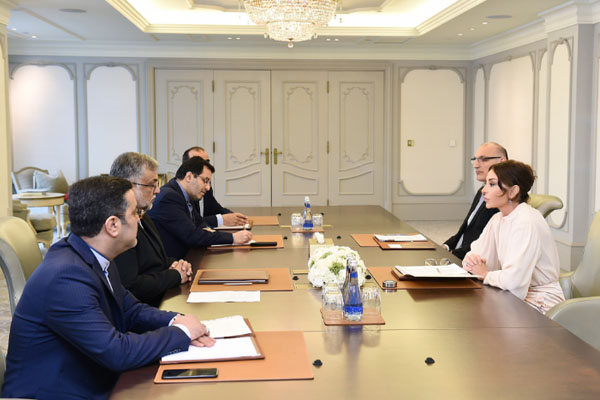 Mehriban Aliyeva meets with head of Iranian Islamic Culture and Relations Organization (PHOTO)