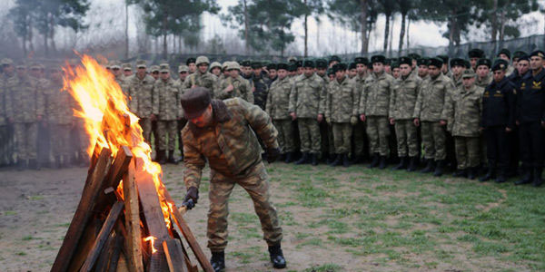 """Defence Minister celebrates """"Yel Chershenbesi"""" together with military personnel (PHOTO/VIDEO)"""