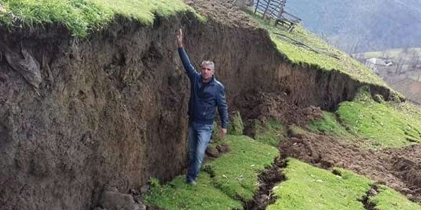Azerbaijani roads affected by series of landslides, new landslide sites emerge in several districts