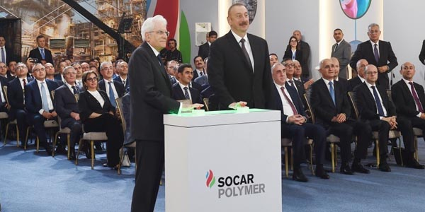Azerbaijani and Italian presidents attend polypropylene plant built within 'SOCAR Polymer' project (PHOTO)
