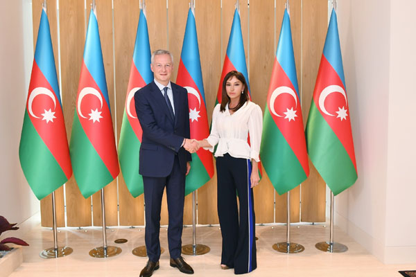 First Vice-President of Azerbaijan meets with Minister of the Economy and Finance of France (PHOTO)