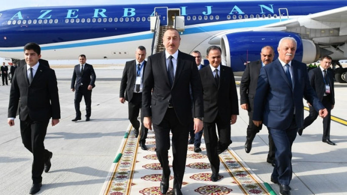Ilham Aliyev leaves for Turkmenistan to attend the meeting of Council of CIS Heads of State (PHOTO)