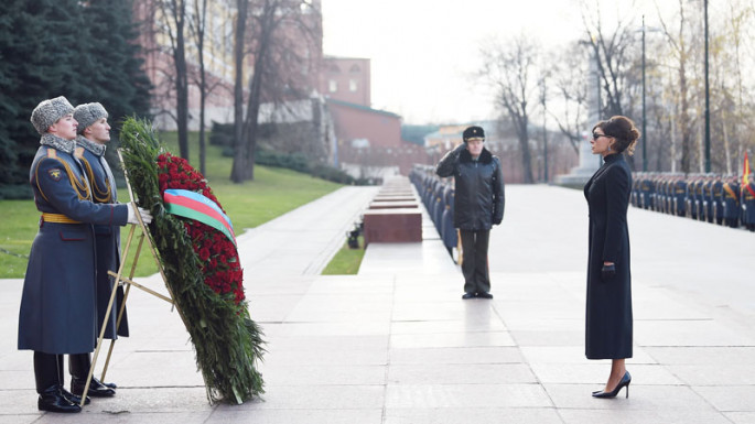 First Vice-President Mehriban Aliyeva visited tomb of unknown soldier in Moscow (PHOTO)