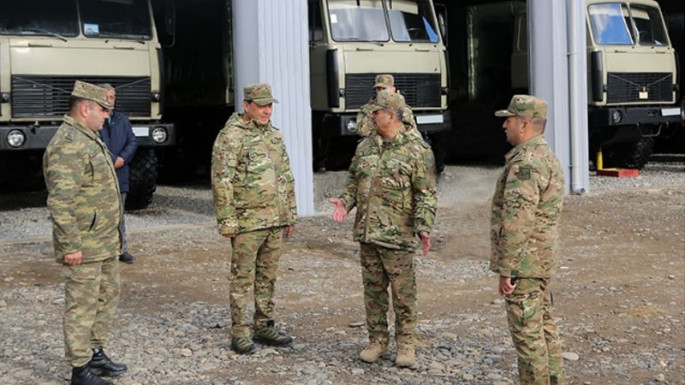Defense Minister inspects combat readiness of artillerymen in frontline zone (VIDEO)