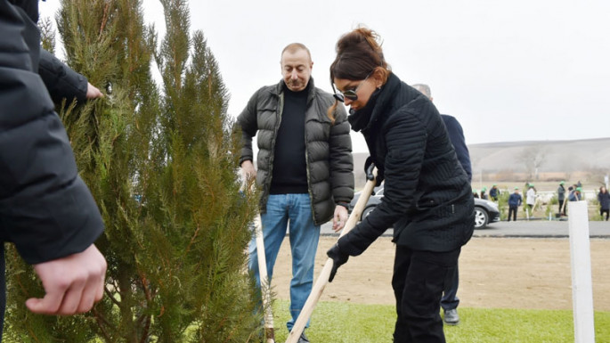 Ilham Aliyev and Mehriban Aliyeva attended tree-planting campaign in Shamakhi district (PHOTO)