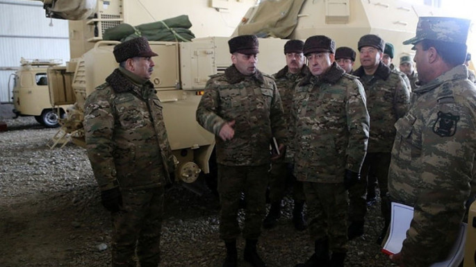 Zakir Hasanov, Maharram Aliyev visiting military units on frontline (PHOTO/VİDEO)