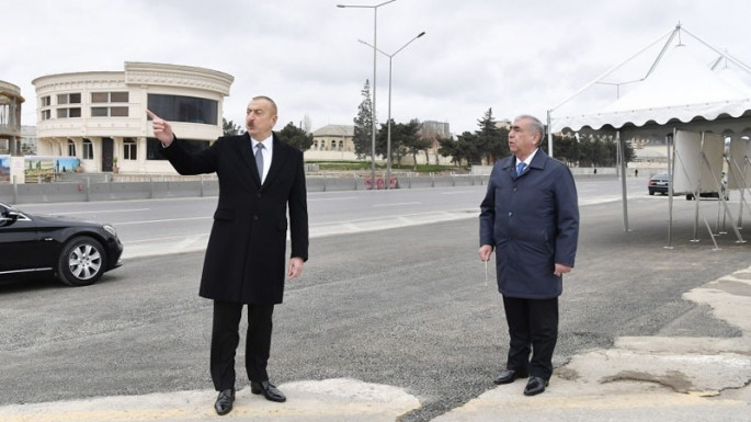 President Ilham Aliyev familiarized himself with works done in the framework of expansion of Baku-Sumgait highway