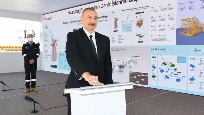 President Ilham Aliyev participated in loading out into sea of substructure of Garabagh field (PHOTO)