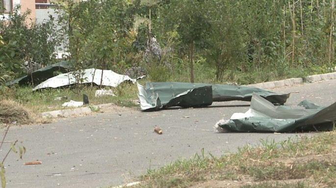 A father and son killed as a result of Armenian shelling of Agdam