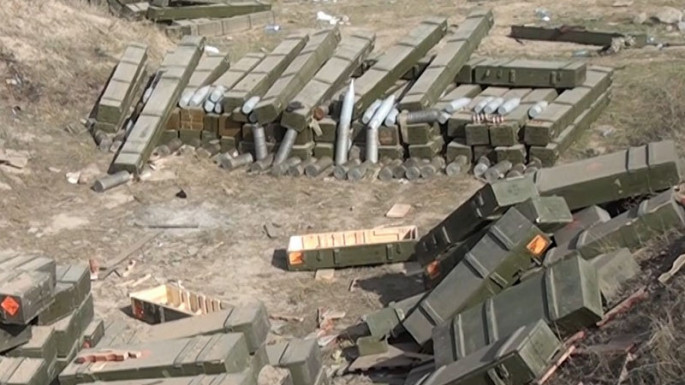 Video footage of ammunition, armored and auto vehicles left by the enemy on the battlefield while fleeing (VIDEO)