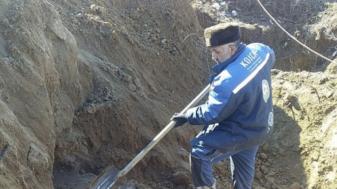 Human remains found during excavation in Aghdam (PHOTO)