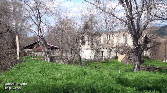 Azerbaijani MoD releases video footage of the Ulashli village of the Gubadli region (VIDEO)