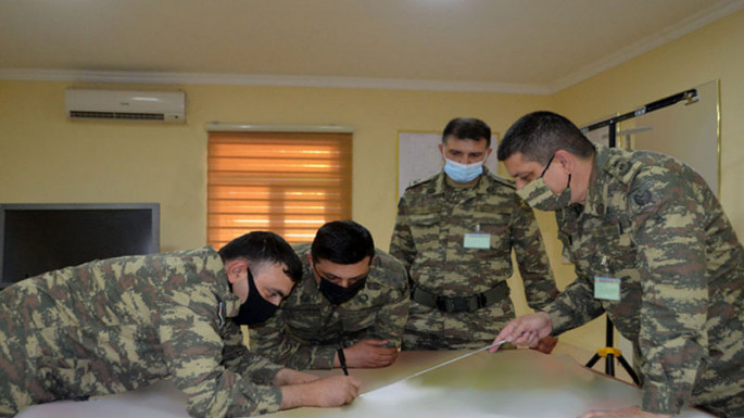 Azerbaijani MoD: Tasks are fulfilled on the maps in the course of the exercises (VIDEO)